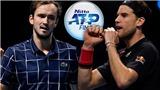 Link xem trực tiếp Medvedev vs Thiem. Trực tiếp chung kết ATP Finals 2020