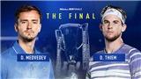 Video clip highlights Medvedev vs Thiem. Kết quả chung kết ATP Finals 2020