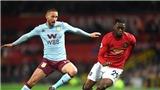 Video clip bàn thắng trận Aston Villa vs MU
