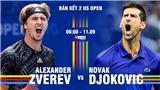 Xem trực tiếp tennis Zverev vs Djokovic, US Open 2021