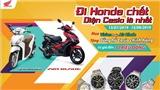 Mua Honda Vision 110cc và Air Blade 125cc nhận đồng hồ Casio chính hãng