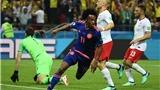Video clip bàn thắng Ba Lan 0-3 Colombia: James Rodriguez rực sáng