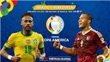 Kèo nhà cáiBrazil vs Venezuela. Tỷ lệ kèo bóng đá Copa America 2021. Trực tiếp BĐTV