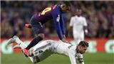 Fan Barcelona hả hê khi Sergio Ramos bị Nelson Semedo 'hạ nhục'
