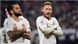 Neymar và Alves gây sốt khi phối hợp ghi bàn từ đá phạt góc như trong... game