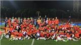 Quang Hải cười rạng rỡ trong ngày U22 Việt Nam ăn mừng HCV SEA Games 2019