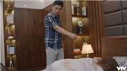 VIDEO 'Hoa hồng trên ngực trái'tập 24: Phát hiện bị lừa, Thái trở mặt đánh Trà dã man