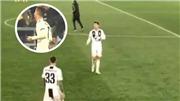 Ronaldo gây sốt với hành động lạ sau khi Juventus bị loại khỏi Champions League