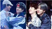 Ngoài những lúc 'khó ở', Suga BTS cũng rất 'tận hưởng' cái ôm từ các thành viên