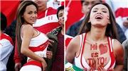 Nhan sắc nóng bỏng của CĐV Peru hứa cởi đồ mỗi khi đội nhà ghi bàn