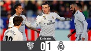 Video clip Huesca 0-1 Real Madrid: Gareth Bale giúp Real trở lại Top 4