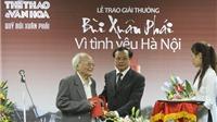 Nhà văn Tô Hoài - Giải thưởng Lớn Vì tình yêu Hà Nội