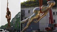 """Bức tượng """"lột da"""" phụ nữ mang thai: Kiệt tác nghệ thuật hay trò lố bịch?"""