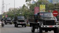 Hình ảnh đoàn linh xa phục vụ lễ tang Đại tướng tại Quảng Bình