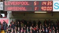 CHÙM ẢNH: Chiến thắng '5 sao' của Liverpool và cơn ác mộng của Arsenal