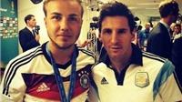 Goetze hé lộ bí mật đằng sau bức ảnh chụp chung với Messi