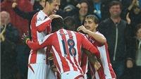VIDEO Stoke 3-2 Arsenal: Cazorla và Ramsey ghi bàn, 'Pháo thủ' vẫn bại trận