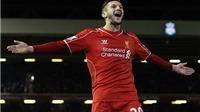 Liverpool trở lại cuộc đua Top 4, Rodgers hết lời ca ngợi Lallana