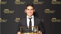 James Rodriguez đoạt giải Bàn thắng đẹp nhất năm 2014