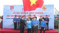 Xây dựng công trình cột cờ Tổ quốc tại đảo Mắt - Nghệ An