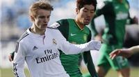 Mới đá 1 trận cho đội trẻ Real, Odegaard đã được dự Champions League