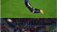 Casillas tái hiện siêu phẩm đánh đầu của Van Persie ở World Cup 2014