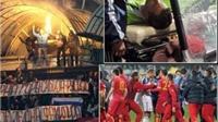 Thủ môn Akinfeev bỏng vì pháo sáng rơi trúng người, trận Nga-Montenegro bị hoãn