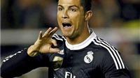 VIDEO: Bị phạt thẻ vì ăn vạ, Ronaldo khiêu khích trọng tài khi ăn mừng bàn thắng?