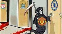 ẢNH CHẾ: 'Tử thần' Man United sẽ gõ cửa Chelsea. David Moyes là... thiên tài
