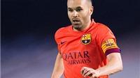 Barcelona thở phào: Andres Iniesta chỉ bị chấn thương rất nhẹ
