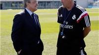 Thay thế Ancelotti là quyết định lớn nhất trong đời Perez?
