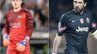 Buffon vs. Ter Stegen: Huyền thoại so găng lính mới