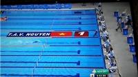 HCV nội dung 800m tự do: Ánh Viên bơi về đích, lập kỷ lục, chờ đối thủ bơi nốt