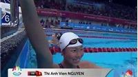 Lần thứ 8 phá kỉ lục SEA Games 2015, Ánh Viên đã cười rất tươi