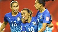World Cup nữ 2015: Toàn thắng 2 trận, Brazil sớm lọt vào vòng 1/8