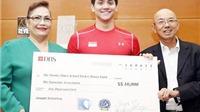 'Michael Phelps của Singapore' làm từ thiện 10 nghìn USD nhân sinh nhật thứ 20.
