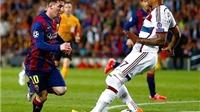 Jerome Boateng: 'Tôi tự cười chính mình vì ngã xuống trước Messi'