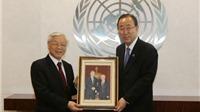 Tổng Bí thư Nguyễn Phú Trọng lần đầu thăm trụ sở Liên hợp quốc