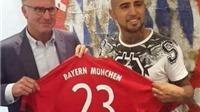 CHÍNH THỨC: Arturo Vidal kí hợp đồng với Bayern Munich đến 2019