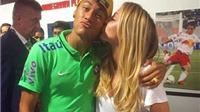 Bouchard hôn Neymar, thổ lộ: 'Anh ấy là người dễ thương nhất'