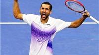 Tứ kết US Open: Marin Cilic hạ Tsonga sau 4 giờ giằng co căng thẳng