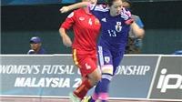 Giải futsal nữ vô địch châu Á 2015, Việt Nam – Nhật Bản 2-4: Khác biệt đẳng cấp