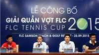 Lễ công bố giải quần vợt FLC 2015 – FLC Tennis Cup 2015: Màn trình diễn lớn nhất trên bể bơi nước mặn