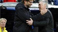 Ancelotti và Juergen Klopp: Ai là người thích hợp nhất để dẫn dắt Liverpool?