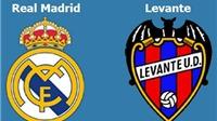 Link truyền hình trực tiếp và sopcast trận Real Madrid - Levante (21h00,17/10)