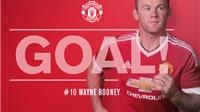 Bàn thắng Everton - Man United: Rooney kết thúc chuỗi trận tịt ngòi