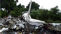 CHÙM ẢNH: Hiện trường vụ rơi máy bay Nga thảm khốc ở Nam Sudan