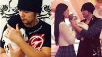 'Vua pop' Châu Kiệt Luân rửa bát, thay bỉm cho con