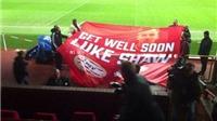 CĐV PSV lên kế hoạch xin lỗi vì 'cái chân gãy' của Luke Shaw