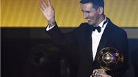 Kết quả chi tiết Quả bóng Vàng FIFA 2015: Messi bỏ xa Ronaldo và Neymar